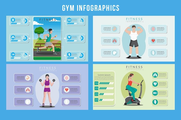 Gym infographic ontwerp