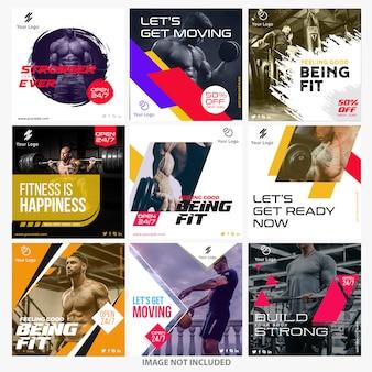 Gym instagram berichtsjablonen