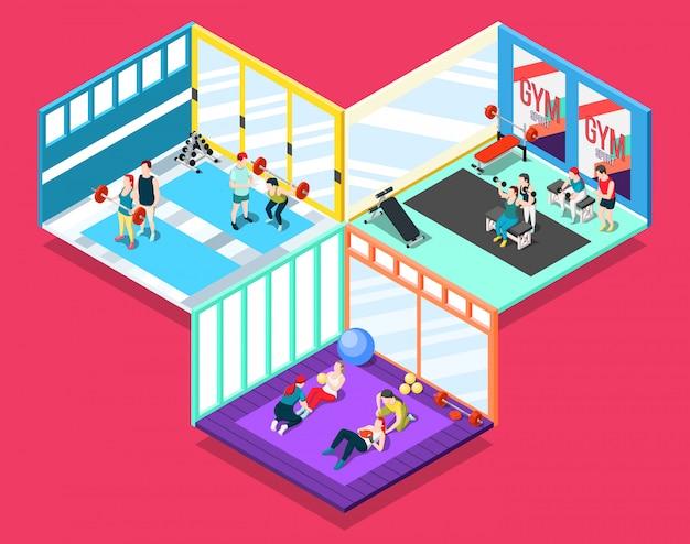 Gym isometrische concept