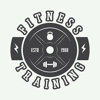 Gym-logo in vintage stijl.