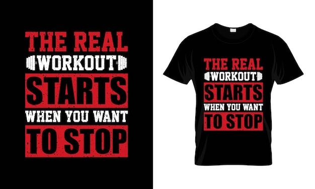 Gym motiverende citaat met grunge-effect vectorontwerp voor t-shirt