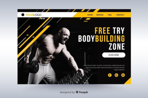 Gym promotie bestemmingspagina met foto