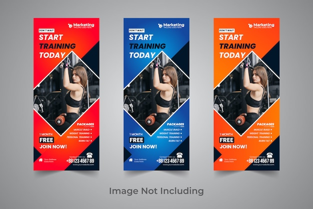 Gym roll up banner design