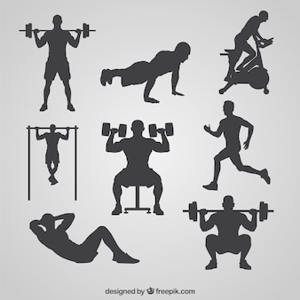 Gym silhouetten collectie