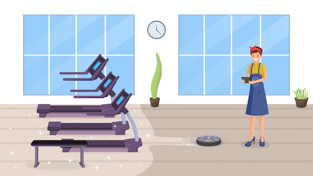 Gym smart cleaning flat
