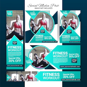 Gym social media banners instellen