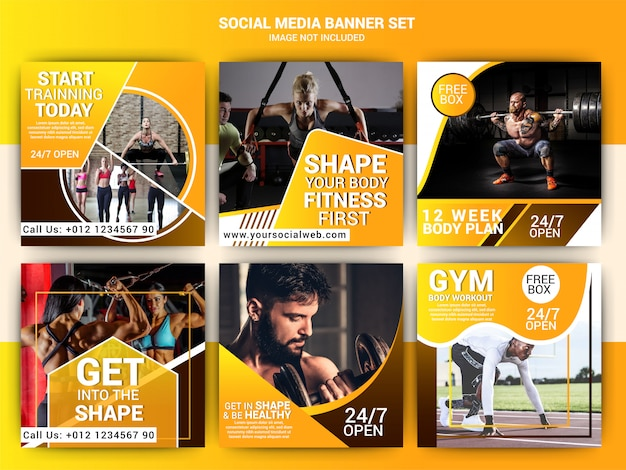Gym sociale media marketing sjabloon