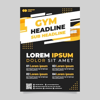 Gym sport folder sjabloon