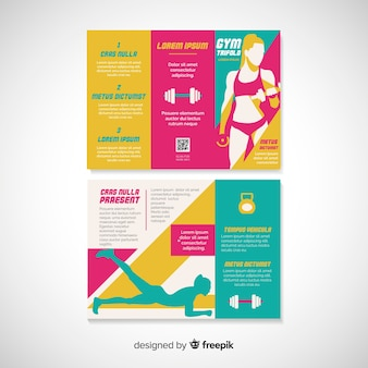 Gym trifold brochure sjabloon