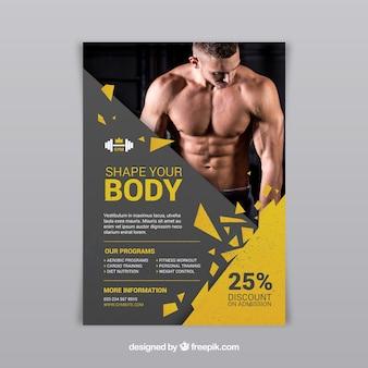 Gymcentrum-flyer met verschillende activiteiten