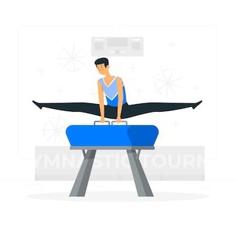 Gymnastiek concept illustratie