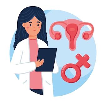 Gynaecologie concept illustratie