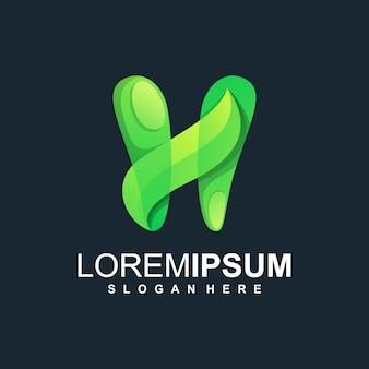 H blad logo ontwerp