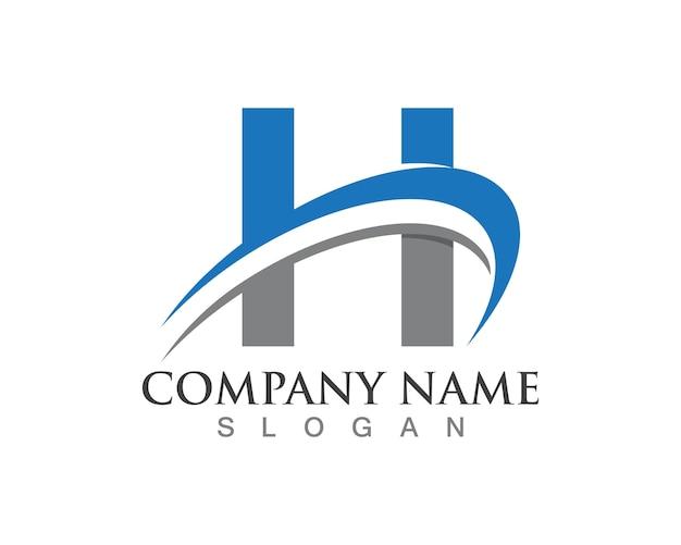 H brief logo's sjabloon