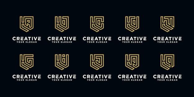 H en etc logo ontwerpsjabloon initialen