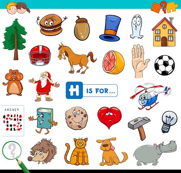 H is voor educatief spel voor kinderen