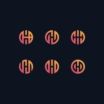 H-logo ingesteld in verlopen