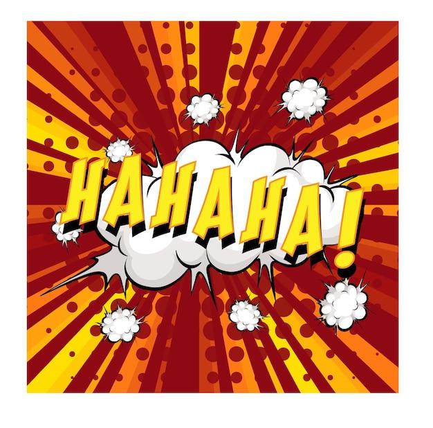 Ha ha ha formulering komische tekstballon op burst