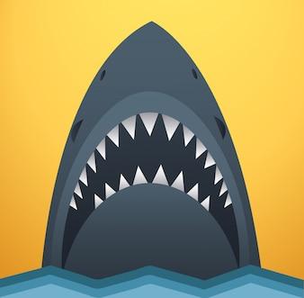 Haai vectorillustratie