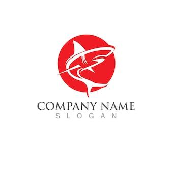Haai vis logo sjabloon. creatief vectorsymbool