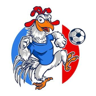 Haan frankrijk voetbal mascotte