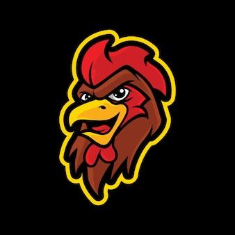 Haan mascotte logo ontwerp