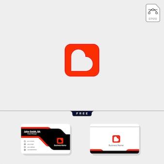 Haardvuur logo sjabloon, krijg gratis visitekaartje ontwerp