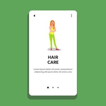 Haarverzorging en kapsel schoonheidssalonmeisje