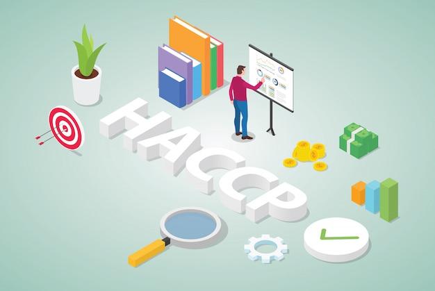 Haccp-gevarenanalyse en kritische beheersingspunten bedrijfsconcept voor risicobeheer