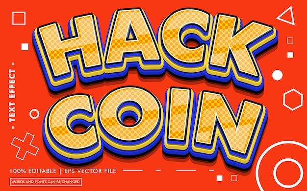 Hack coin teksteffectstijl