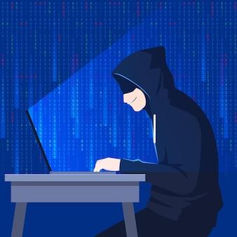 Hacker activiteit concept