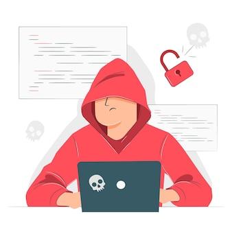 Hacker concept illustratie