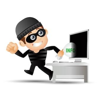 Hacker en dief illustratie