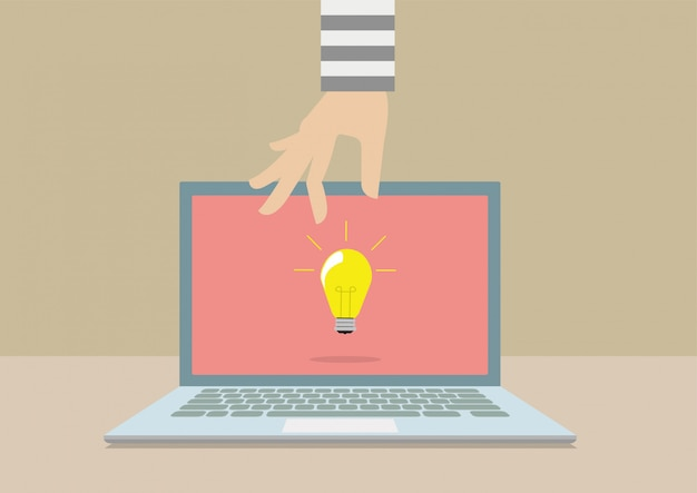 Hackers stelen ideeën van computer laptop.