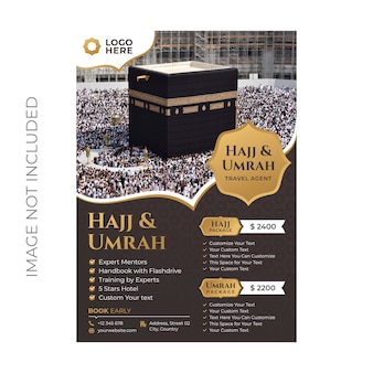 Hadj en umrah folder sjabloon