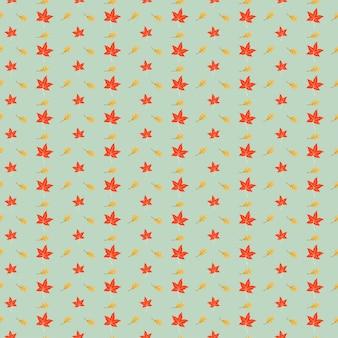 Half druppel herfstbladeren naadloze patroon