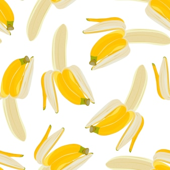 Half gepeld banaan naadloos patroon