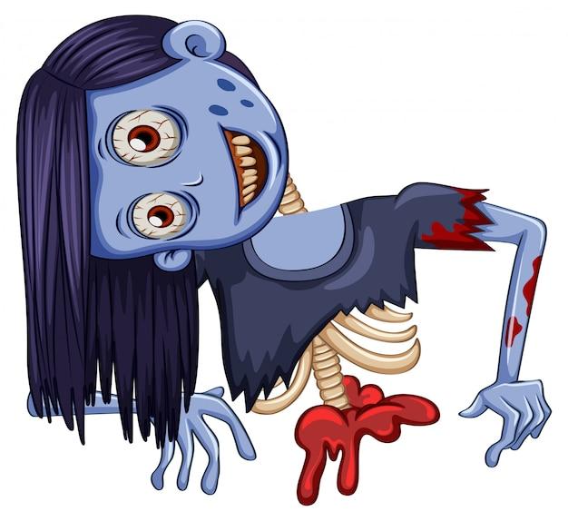 Half lichaam van zombie