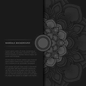 Half mandala op zwarte achtergrond