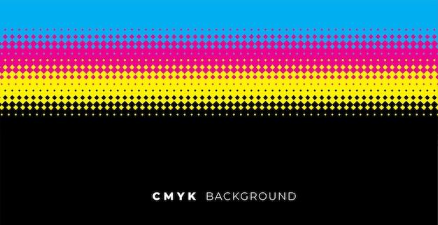 Halftone achtergrond met cmyk-kleuren