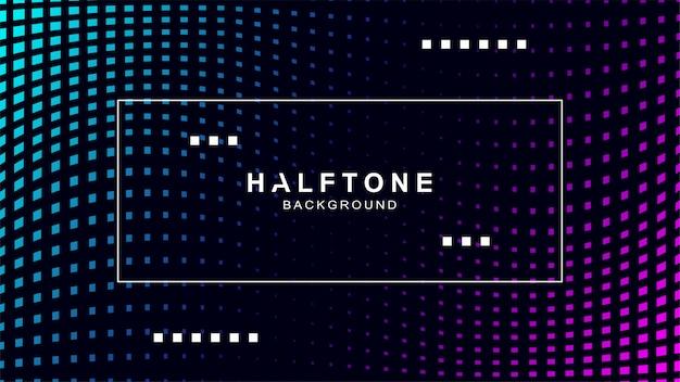 Halftone achtergrond met frame