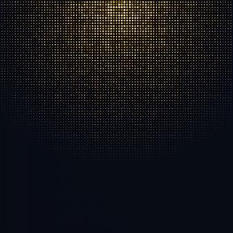 Halftone achtergrond met glitter goud