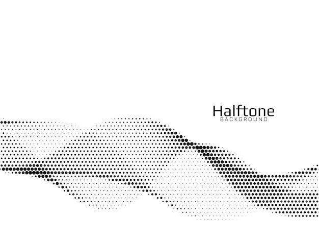 Halftone achtergrond van de abstracte golfstijl