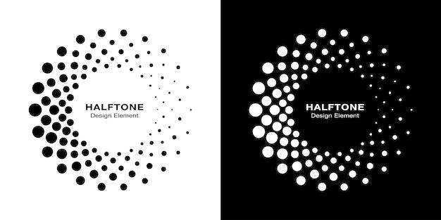Halftone circulaire gestippelde frames instellen.