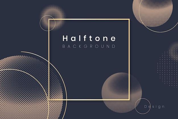 Halftone cirkel achtergrondkader
