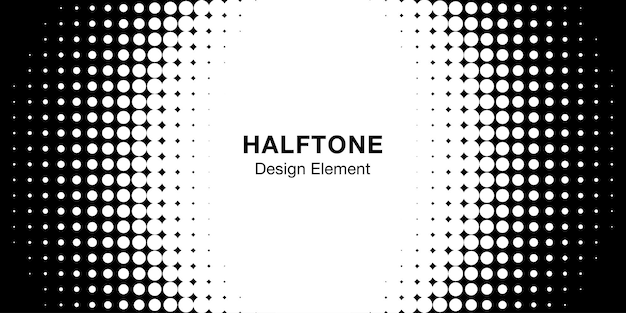 Halftone cirkel frame achtergrond.