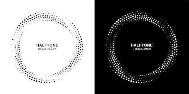 Halftone cirkel gestippelde kaderset
