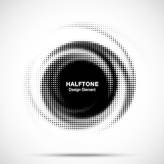 Halftone cirkelframe gestippeld.