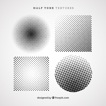 Halftone cirkels en vierkanten