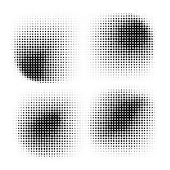 Halftone cirkels halftone puntpatroon textuur ingesteld op witte achtergrond